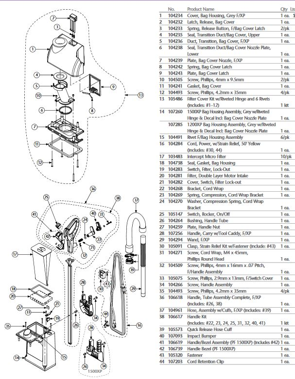 Miele Vacuum Parts Diagram