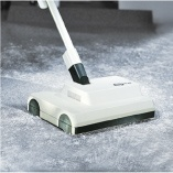 The SEBO Duo Brush Machine and SEBO Duo Daisy help to agitate the cleaning powder into carpet fibers