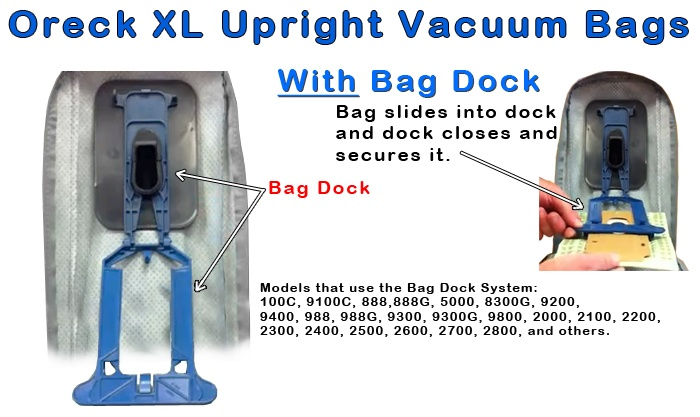 Oreck XL Upright Vacuum Bags With Dock