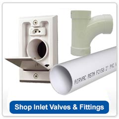 Central Vacuum Fittings and Inlet Valves