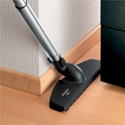 The Miele Complete C3 Softcarpet includes a swivelling hardwood floor brush