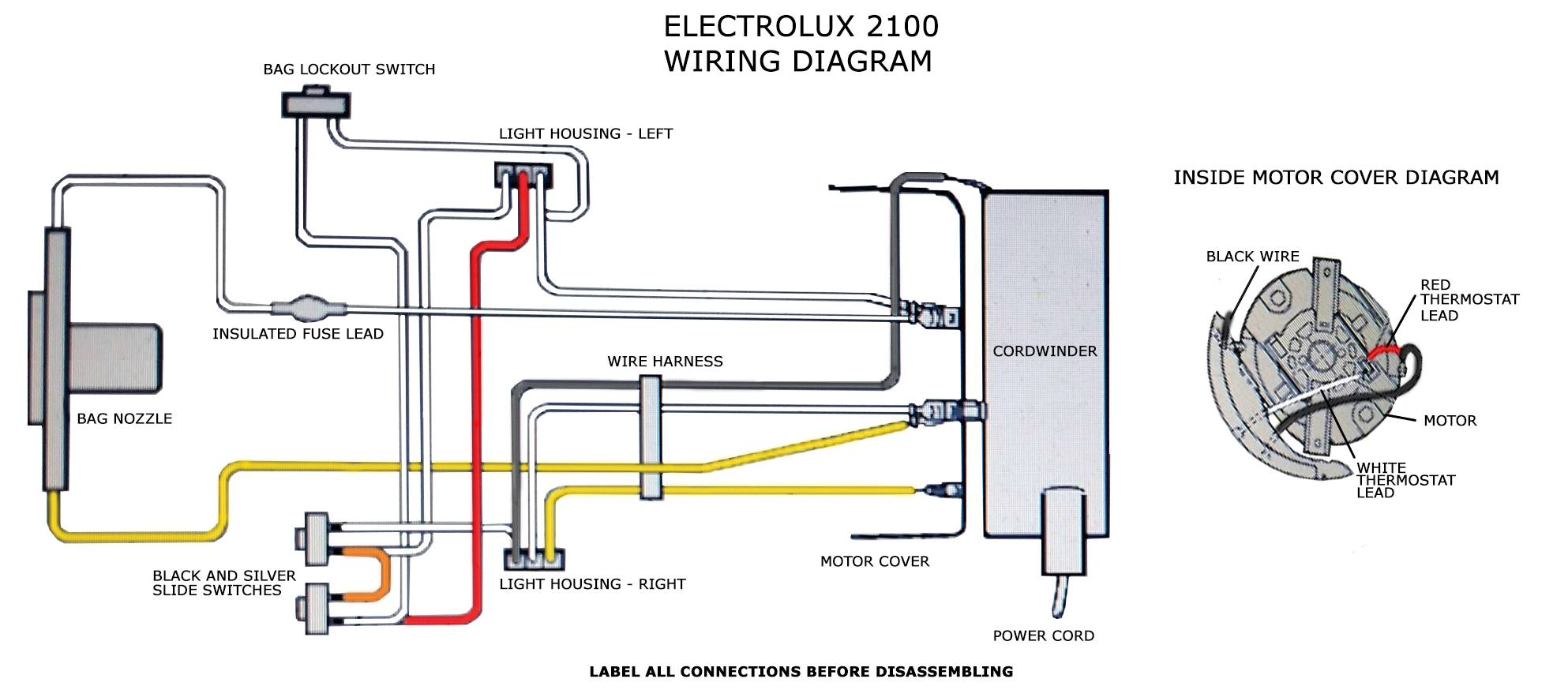 Electrolux 2100 Wiring DiagramVacuum Cleaner Advice and Repair Help | eVacuumStore