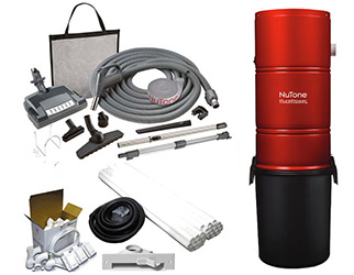 NuTone Central Vacuum Builder's Packages