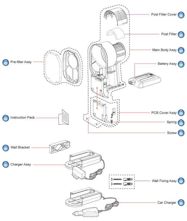 dyson dc16 main body vacuum parts
