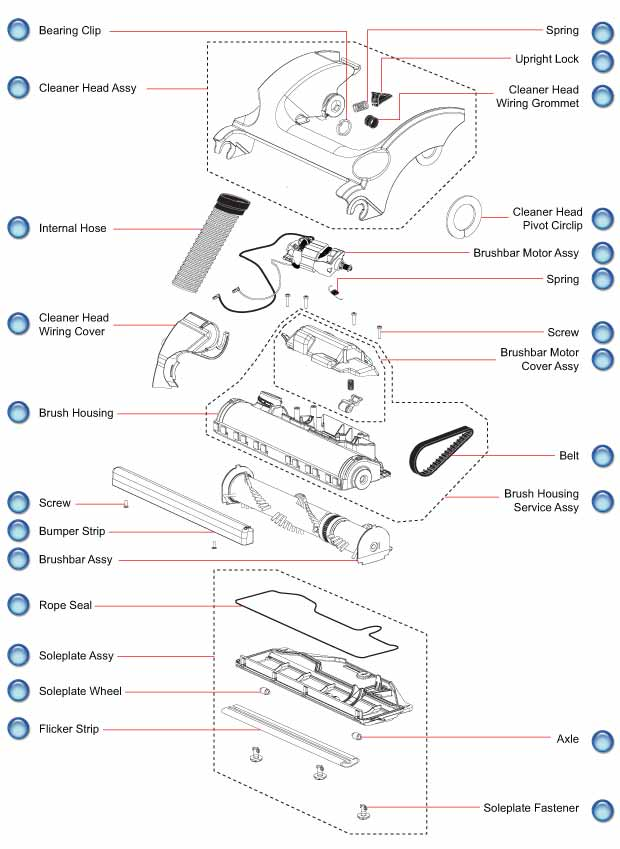 dyson dc17 cleaner head parts evacuumstore com Light Switch Home Wiring Diagram click here for dc17 cleaner head schematic