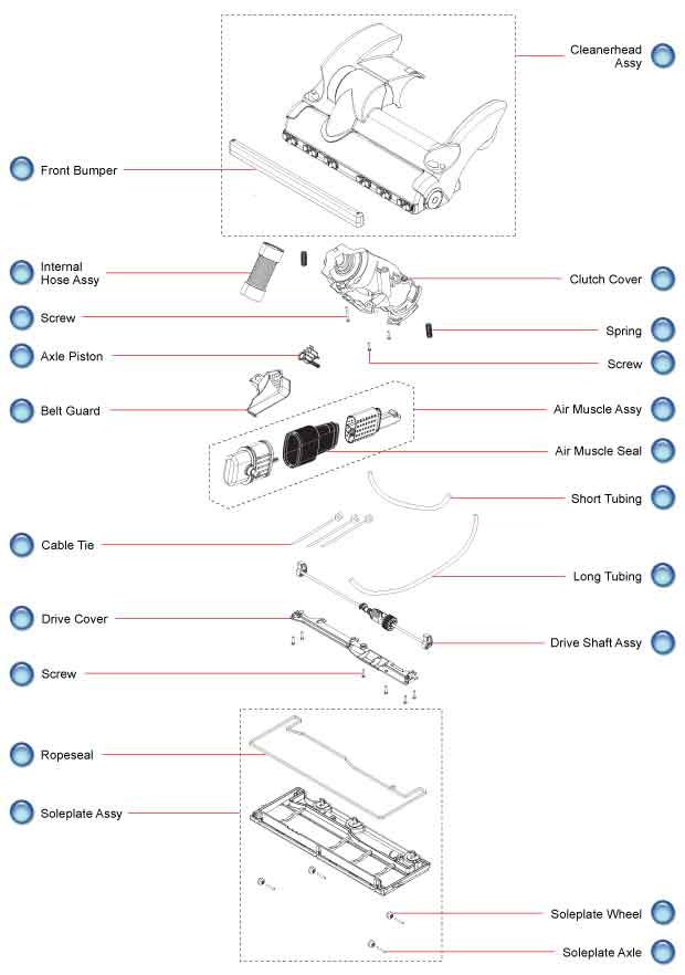 how to clean dyson dc59 drive assembly diagram