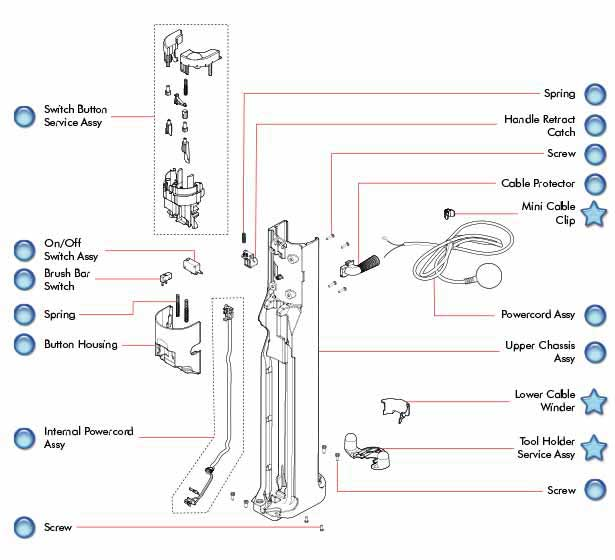 Dyson Dc50 Upper Duct Parts Evacuumstore Com