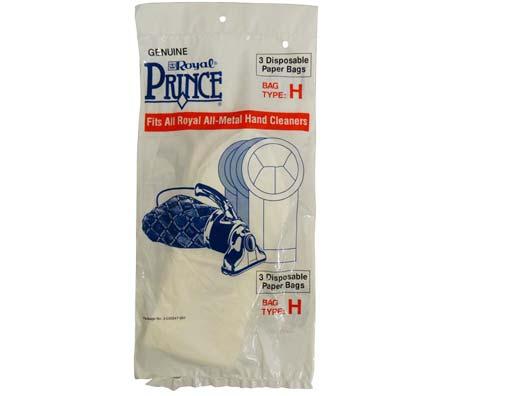 Royal Style H Vacuum Cleaner Bags 3 Pack Genuine