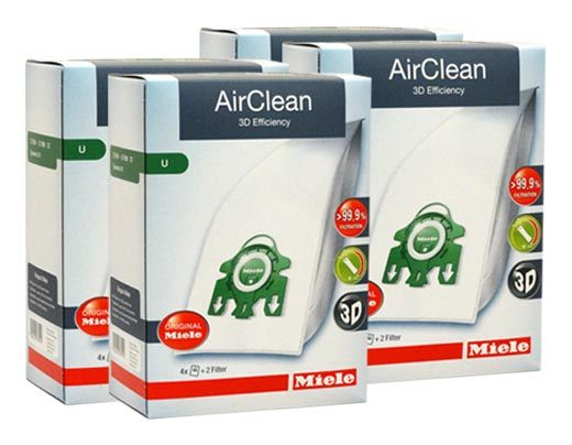 Miele Airclean FilterBags Type U - 16 Pack