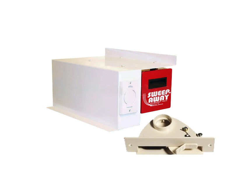 Galaxie Sweep Away Cabinet Vac   Ivory Right Mount