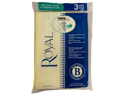 Royal Type B Hepa Vacuum Bags 3 Pack Evacuumstore Com