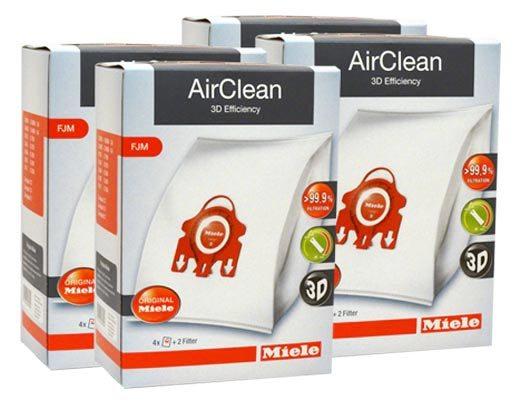 Miele Bags FJM Bags Vacuum Cleaner Hoover 12 x Dust Bags /& 6 x Filters 3 Packs