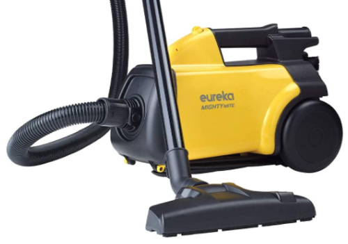 NEW Eureka Mighty Mite Canister Vacuum Cleaner Lightweight 12 Amp Attachments