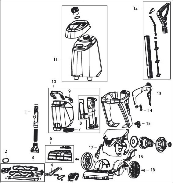 Bissell Proheat 2x Revolution Parts Diagram