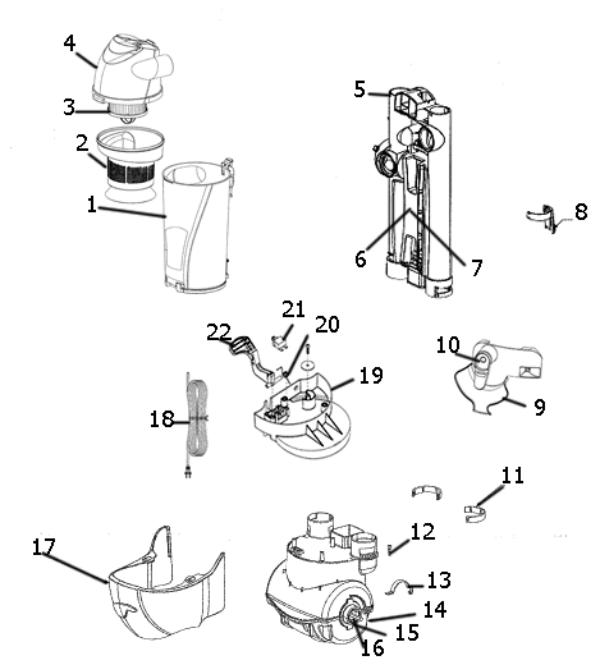 Eureka As1000 Main Body Diagram Evacuumstore Com