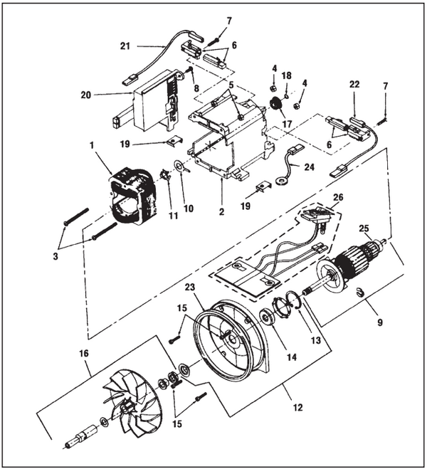 2755 kirby sentria vacuum parts diagrams & schematics evacuumstore com vacuum cleaner motor wiring diagram at webbmarketing.co