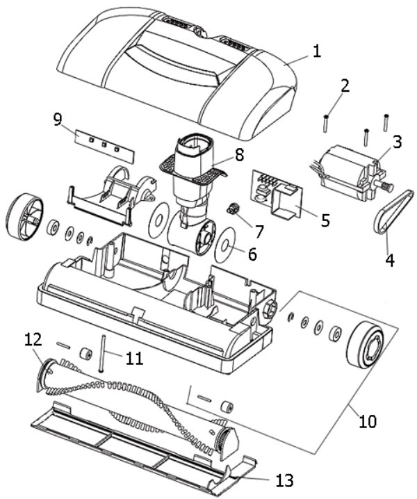 electrolux jetmaxx el4040a parts diagram