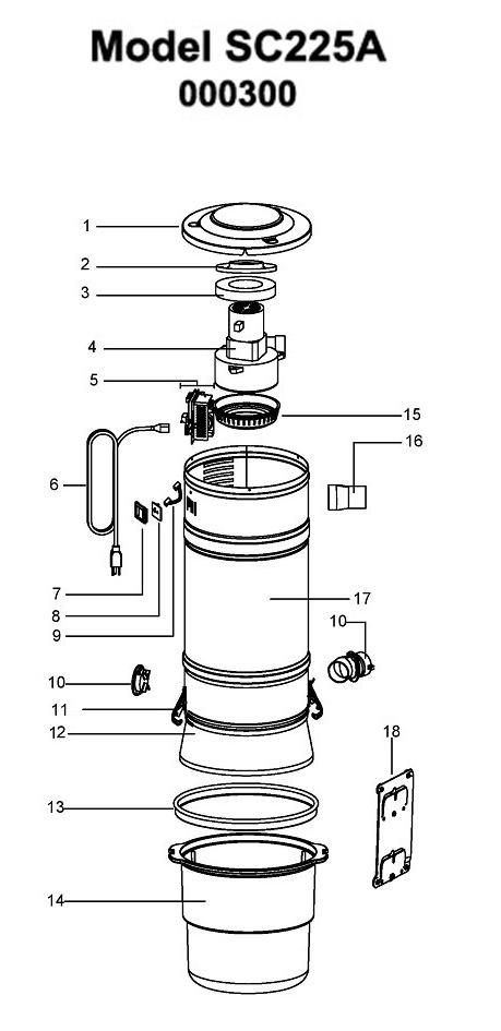 beam sc225a parts