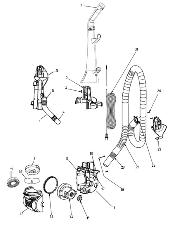 Eureka 5403a Vacuum Factory Parts Diagrams And Schematics