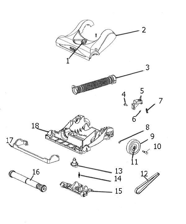 Eureka As1002a Upright Vacuum Parts List And Diagram