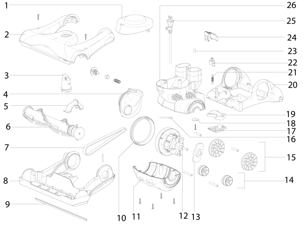 Eureka As4008a Upright Vacuum Parts List And Diagram