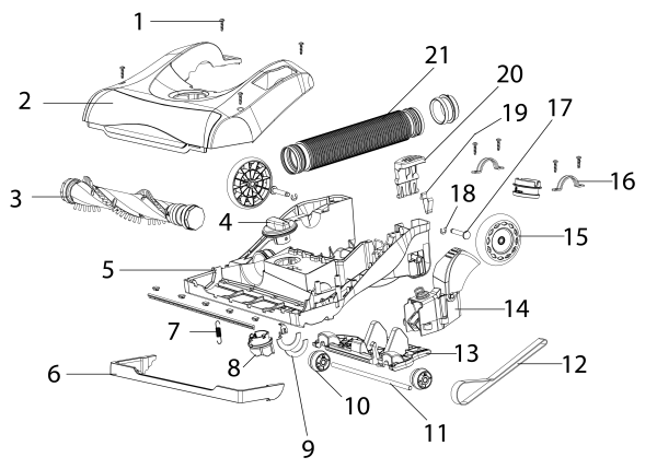 eureka as5210a upright vacuum parts list and diagram