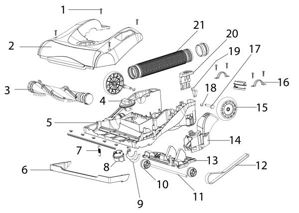 eureka as5210a upright vacuum parts list and diagram
