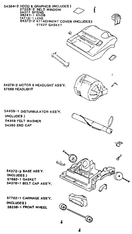 vacuum parts  miele vacuum parts diagram