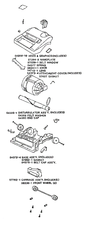 eureka series 9600 factory parts diagrams and schematics