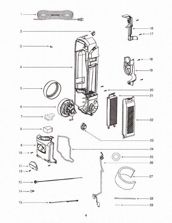 sanitaire sc5815a 2 vacuum parts list evacuumstore com