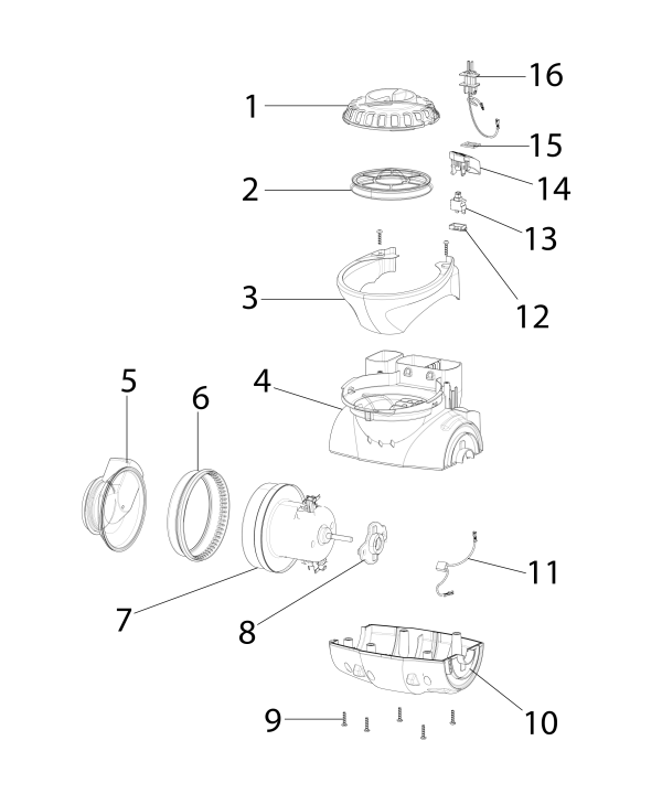 Eureka AS3033A Parts Diagram   eVacuumstore com