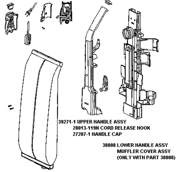eureka series 7700 factory parts diagrams and schematics