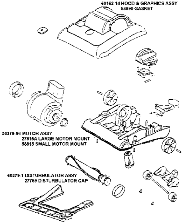 Eureka Series 7600 Factory Parts Diagrams And Schematics