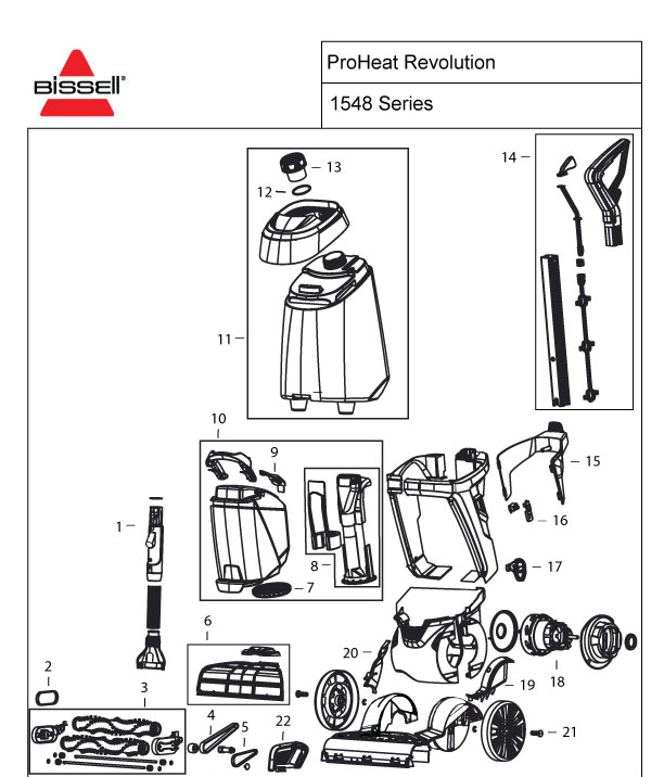 bissell 1548 parts