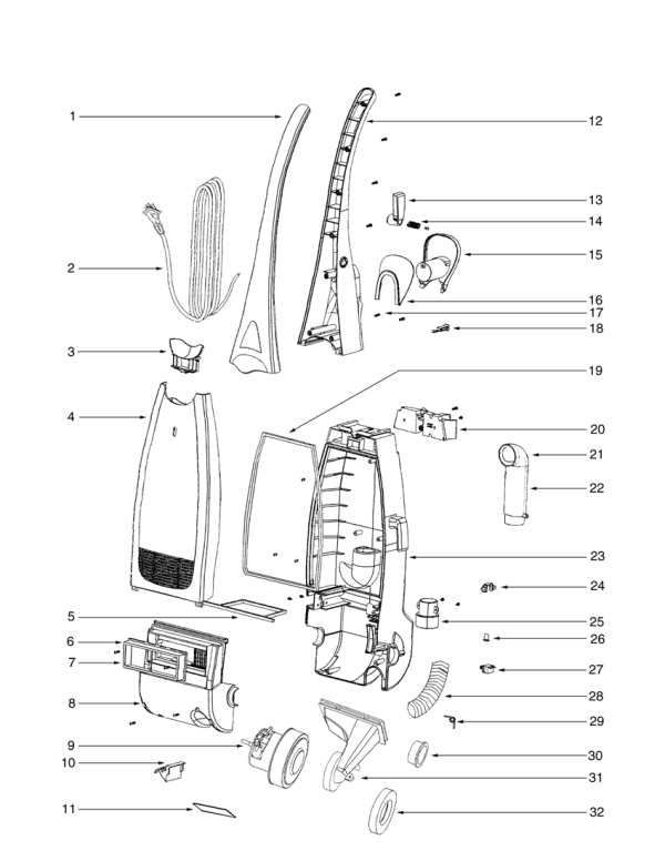 Miele Vacuum Cleaners Diagram together with Vacuum Cleaner Crevice Tool additionally S 927 3686a besides P 14189 Electrolux Ergorapido Shearclean Stick Vacuum El1061a besides 594. on eureka vacuum belts