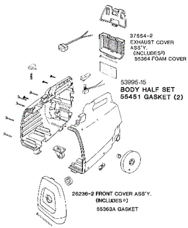 eureka 3015b mighty mite vacuum diagrams