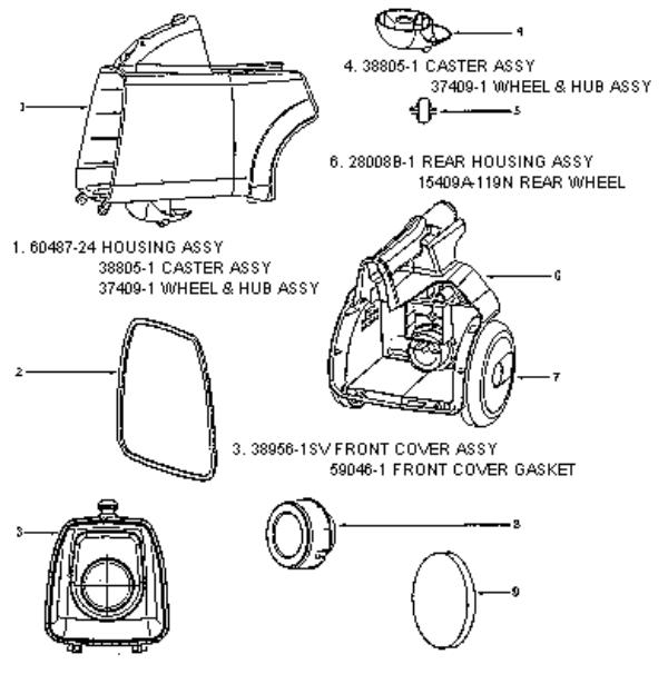 eureka 3672b mighty mite vacuum factory parts diagrams and. Black Bedroom Furniture Sets. Home Design Ideas