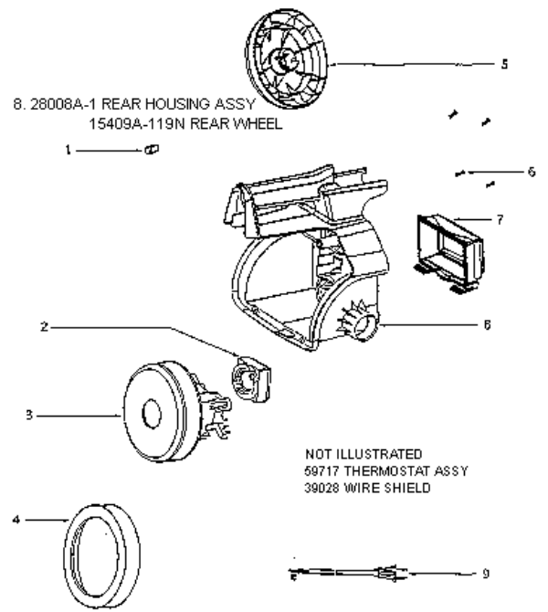 eureka 3680b mighty mite vacuum factory parts diagrams and schematics evacuumstore