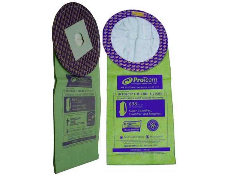 ProTeam 10 Quart Vacuum Bags