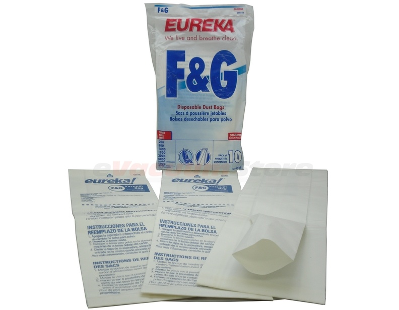 Eureka Commercial Upright 2000 Series Style F & G Bags