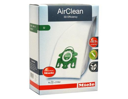 Miele Airclean FilterBags Type U - 4 Pack