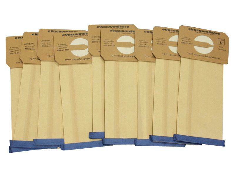 Electrolux 9 Pack Generic Upright Bags Style U