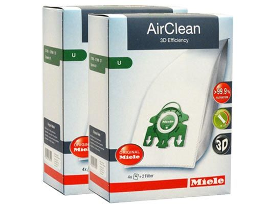 Miele Airclean FilterBags Type U - 8 Pack
