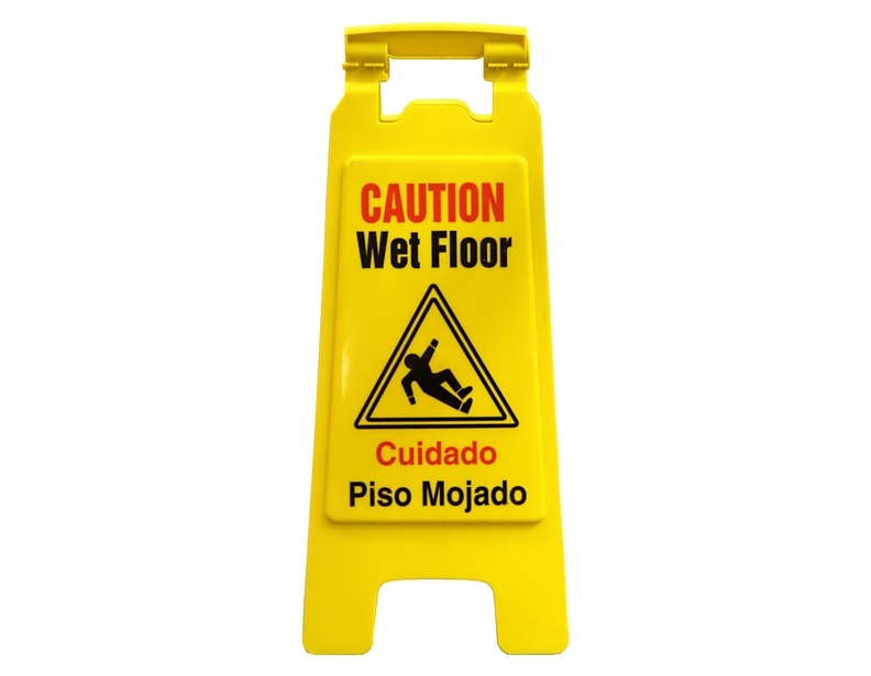 english and spanish wet floor sign. Black Bedroom Furniture Sets. Home Design Ideas