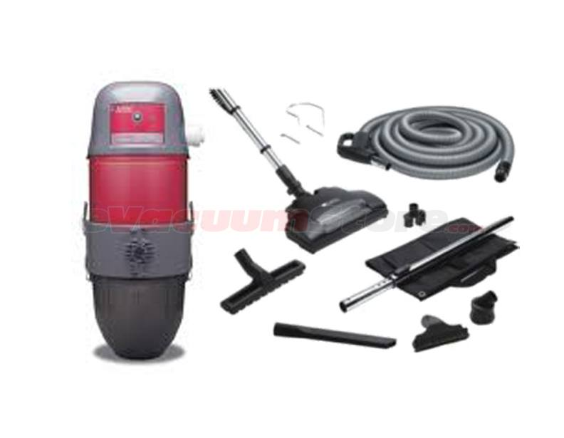 AirVac AVR12000 Central Vacuum w/ Pig-Tail Hose & Accessories Pkg