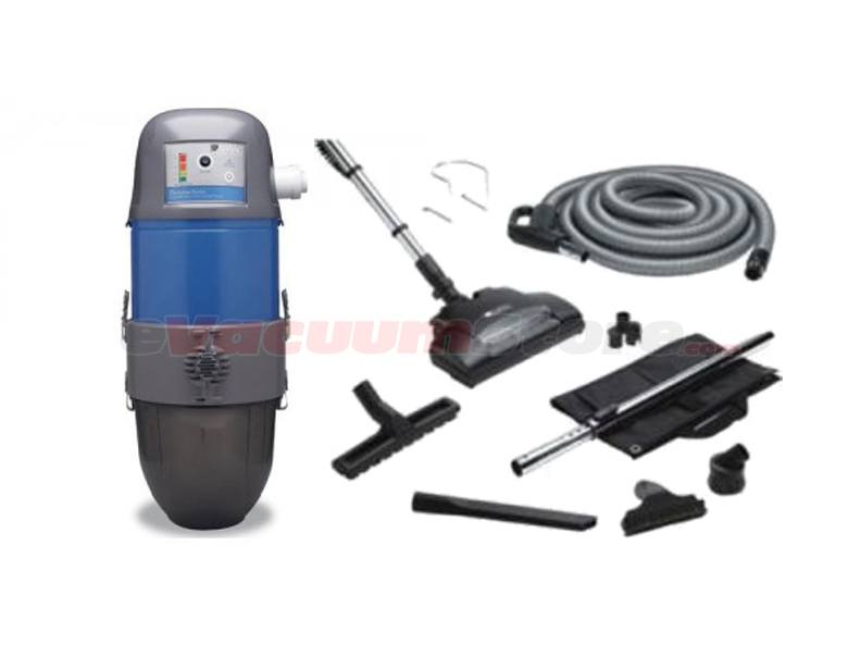 AirVac Platinum Series AVP24000 Central Vacuum w/ 30 Foot Hose & Accessories Pkg
