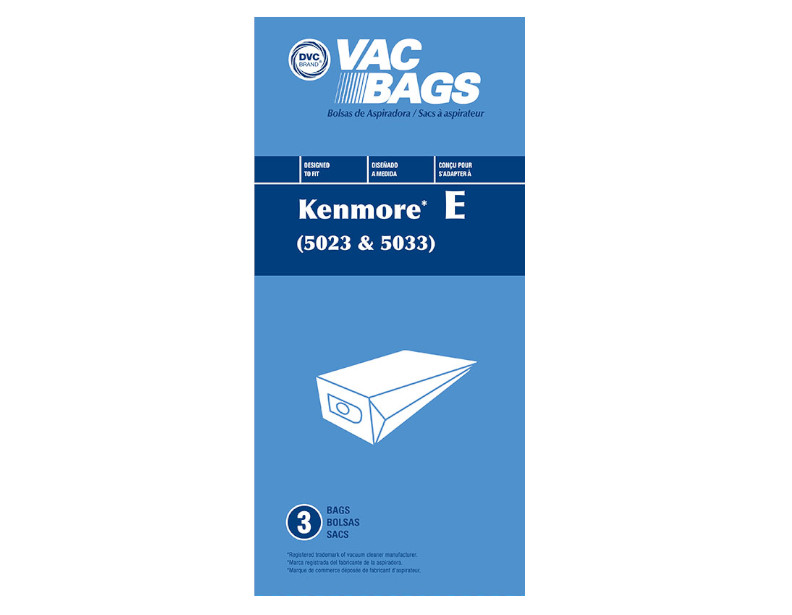Kenmore Canister Vacuum Bags Generic For 5023 5033 3 Pack