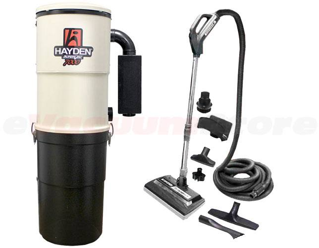 Hayden SuperVac 7000 Deluxe 30 Foot Central Vacuum Package