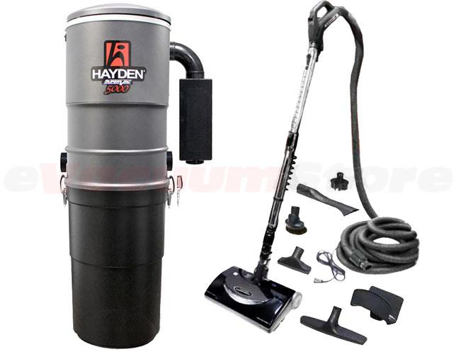 Hayden SuperVac 5000 Premier 30 Foot Central Vacuum Package