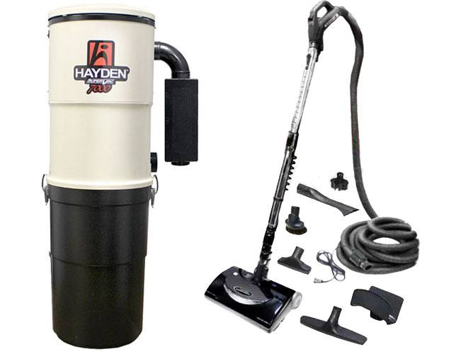 Hayden SuperVac 7000 Premier 30 Foot Central Vacuum Package